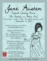 jane austen english country dance poster judson college marion