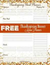free printable thanksgiving menu planner thanksgiving menu