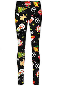 New Womens Christmas Xmas Santa Snowman Printed Stretchy Leggings