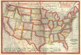 Large United States Map by Dawson County Negenweb Project 1919 Platbook