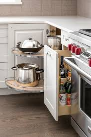 corner cabinet pull out shelf corner cabinet with pull out rotating pot and pan shelves