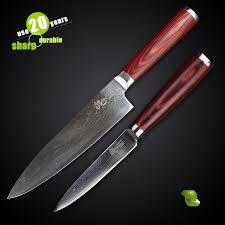 popular kitchen knife damascus set buy cheap kitchen knife
