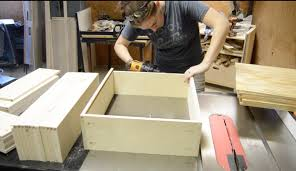 diy queen bed frame with drawer storage wilker do u0027s