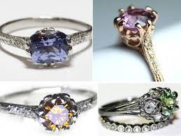 rings gemstones diamonds images Non diamond engagement rings using sapphires rubies jpg
