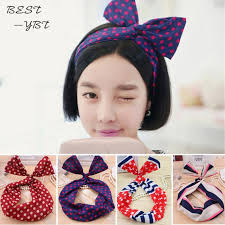 bando headbands fashion korean women headbands bunny ear elastic hair ties ropes
