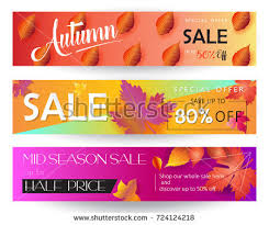 thanksgiving sale banners set autumn sale stock vector 724124218