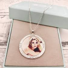 Personalized Photo Jewelry Heart Shaped Necklace Gold Heart Pendant With Picture Personalized