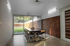 Glass Wall House by House With Privacy Brick Walls