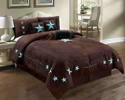 Brown And Blue Bed Sets Bedroom Handsome Queen Comforter Set In Dark Brown And Turquoise