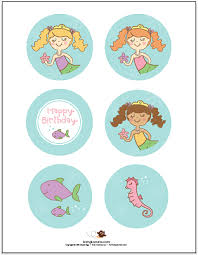 printable mermaid party pack