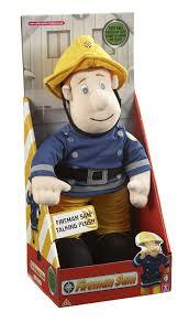 fireman sam talking plush toy character amazon uk toys u0026 games