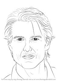 learn how to draw tom cruise celebrities step by step drawing