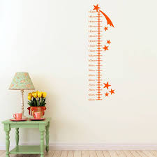 shooting stars growth chart wall sticker by mirrorin shooting stars growth chart wall sticker