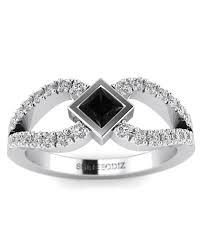 black diamond promise ring princess cut black diamond promise ring in white gold shiree odiz