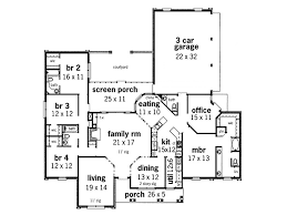 traditional style house plan 4 beds 2 00 baths 2200 sq ft plan