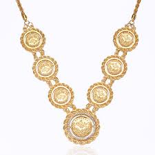 necklace pendant coin images Trendy gold planted coin necklace long for women men arab coins jpg