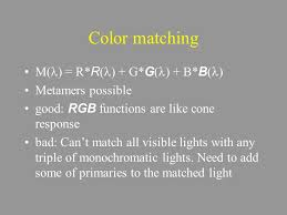 rgb models human visual system gives an absolute color