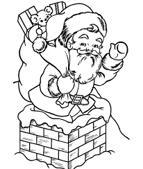 santa into a pit in christmas coloring pages printable christmas