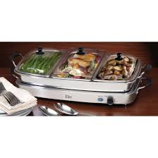 elite triple deluxe buffet server and warming tray 212988