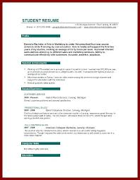 resume for college student student objective for resume objective for student objectives for
