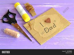 hand greeting card message love dad image u0026 photo bigstock