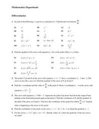ks5 maths core 1 c1 differentiation worksheet by chuckieirish