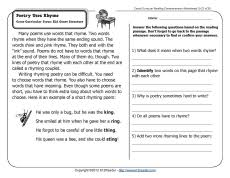 pictures on printable worksheets for 2nd grade reading