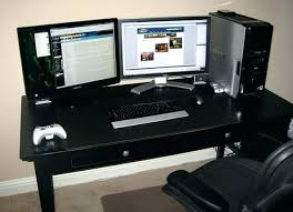Two Computer Desk Setup Coolest Computer Desk Computer Desk For Gaming Best Gaming