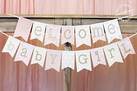 baby shower banners pink and gold baby shower banner welcome baby girl