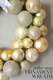 dollar store ornament wreath revisited mad in crafts