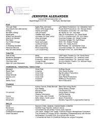 Actor Resume Sample Actress Sample Resumes