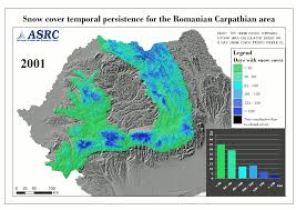 Snow Coverage Map Terrasigna Snow Cover In The Carpathians Mountains Romania