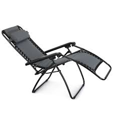 Outdoor Sun Lounge Chairs Vonhaus Oxford 600d Padded Zero Gravity Chair Outdoor Garden Sun