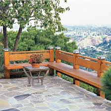 deck bench as railing everyone should do this we had it at my