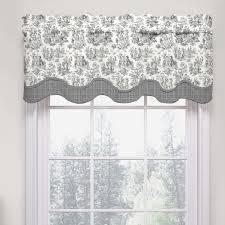 Black And White Valances Decorating Waverly Kitchen Valances Waverly Fabric Curtains