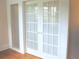 frosted french doors with blinds between glass u2014 prefab homes