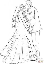 bride groom coloring download printable holiday