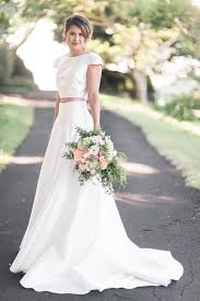 plain wedding dresses picture of a modern plain two wedding dress with a and