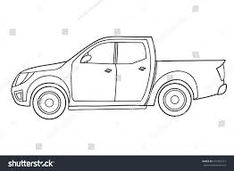 land rover defender vector pickup truck side view vector doodle stock vector 547433377