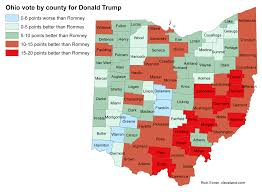Where Is Ohio On The Map by A Big Reason Why Donald Trump Beat Hillary Clinton In Ohio He Ran
