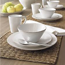 marin white dinnerware 120 for 16 set four 4 place