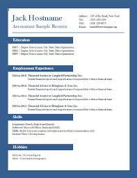 free accountant resume accounting free cv template dot org