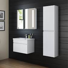 1400 mm tall white bathroom furniture wall hung modern cupboard