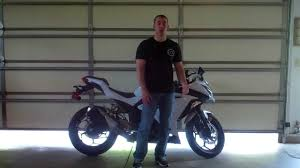 how to break in a motorcycle kawasaki ninja 300 youtube