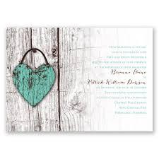 wood heart invitation with free response postcard ann u0027s bridal