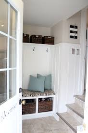 Built In Bench Mudroom Remodelaholic Diy Entryway Mudroom With Cubbies For Under 150