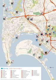 Map Of San Diego California by San Diego Printable Map Missouri Map
