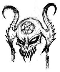 satanic skull by mrhide patten on deviantart