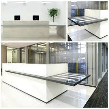 Reception Desk With Glass Display Appealing Office Furniture Table Office Table Office