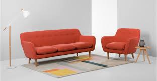 DYLAN  Seater Sofa Retro Orange Madecom - Dylan sofa